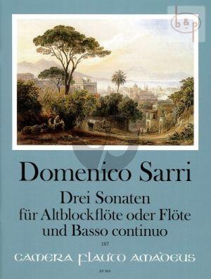 3 Sonatas Treble Rec. [Flute]-Bc)