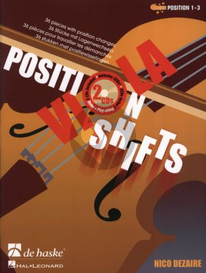 Dezaire Viola Position Shifts (Bk- 2 CD's) (36 Pieces with position changes) (Position 1 - 3)