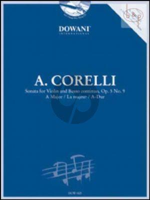 Sonata A-major Op.5 No.9 (Violin-Bc) (Book with Play-Along CD in 3 Tempi) (Dowani)