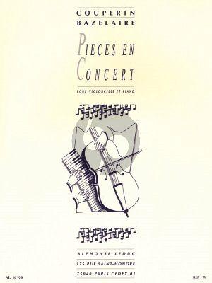 Couperin Pieces en Concert Violoncello-Piano (Paul Bazelaire)