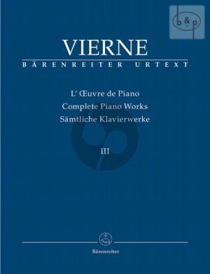 Samtliche Klavierwerke vol.3 Die Letzten Werke (1916 - 1922)