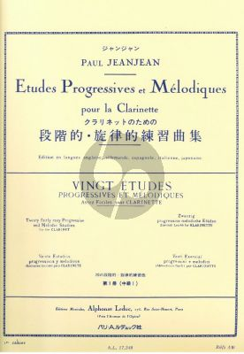 JeanJean P. 20 Etudes Progressives et Melodiques Vol.1