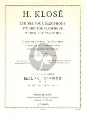 Klose Etudes de Genre et de Mécanisme Saxophone (JeanJean)