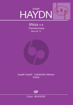 Missa B-dur (Theresienmesse) (Hob.XXII:12 (Soli-Choir-Orch.) (Vocal Score)