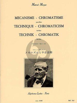 Moyse Mecanisme-Chromatisme pour Flute (German/English/French)