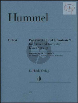Potpourri Op.94 (Fantasie) (Viola-Orch.) (piano red.)