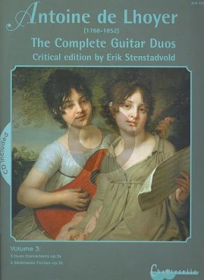 Lhoyer Complete Guitar Duos Vol. 3 (Bk-Cd) (Erik Stenstadvold)