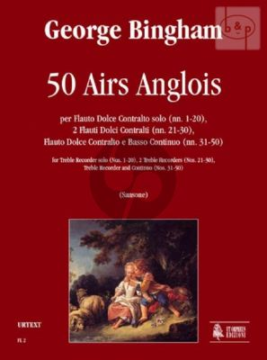 50 Airs Anglois (Treble Rec.Solo (No's 1 - 20)