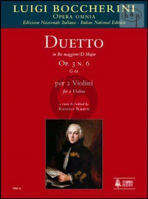 Duetto Op.3 No.6 D-major