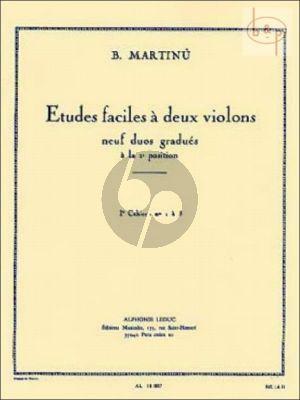 Martinu Etudes Faciles Vol. 1 2 Violons (No. 1 - 5)