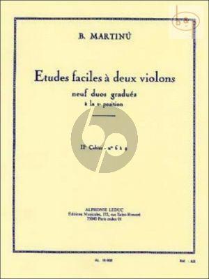 Martinu Etudes Faciles Vol. 2 2 Violons (No. 6 - 9)