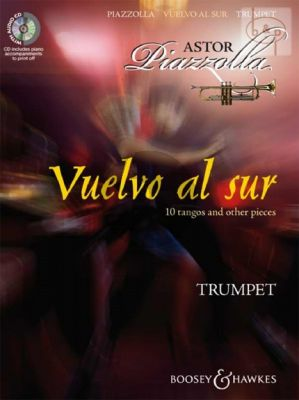 Piazzolla Vuelvo al Sur for Trumpet (Bk-Cd) (CD with printable piano part)