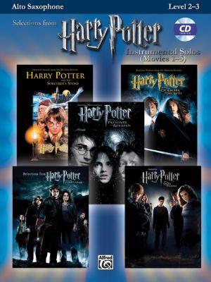 Harry Potter Instrumental Solos (Movies 1 - 5) Alto Saxophone (Level 2 - 3) (Bk-MP3 Cd) (arr. Bill Galliford)