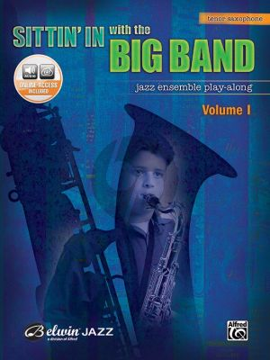 Album Sittin' In with the Big Band Vol. 1 for Tenor Saxophone Book with Audio Online