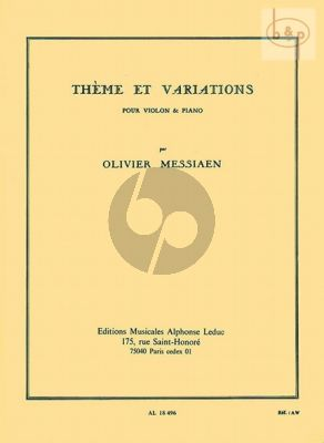 Theme et Variations Violon - Piano