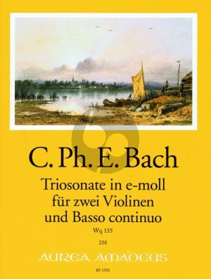 Bach Triosonate e-minor WQ 155 2 Violins-Bc (edited by B.Pauler) (Continuo by Andreas Kohn) (Score/Parts)