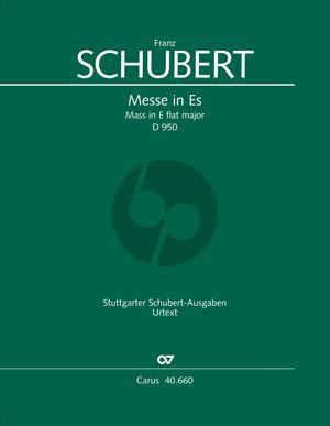 Schubert Messe Es-Dur D.950 Soli-Chor-Orchester Partitur
