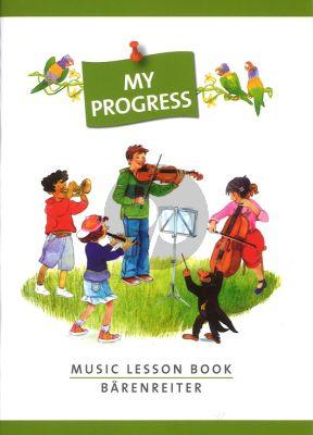 My Progress (Music Lesson Book with Stickers) (Muziekboekje met lijnen, notenbalken en stickervel met leuke stickers)