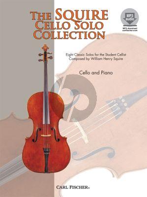 Squire Cello Solo Collection 8 Classic Solos Violoncello-Piano Book with Audio Online
