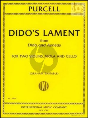 Dido's Lament (from Dido and Aeneas) for String Quartet