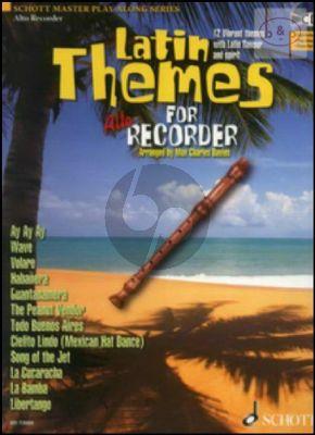 Latin Themes (12 Vibrant Themes) (Treble Rec.) (Bk-Cd)