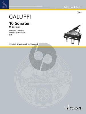 Galuppi 10 Sonatas (from Op.1-2 and Op.5) Harpsichord