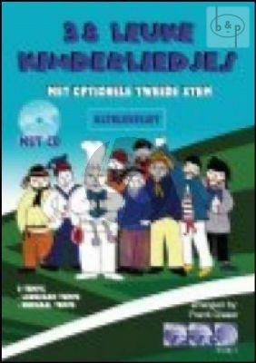 38 leuke Kinderliedjes Altblokfluit (met opt.2e stem) (Bk-Cd)