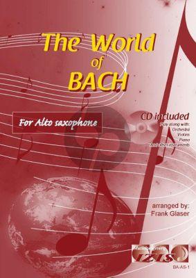 The World of Bach for Alto Saxophone (Bk-Cd) (arr. Frank Glaser)