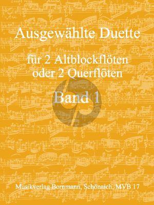Album Ausgewahlte Duetten Vol.1 (2 Altblockfloten oder Floten) (Bornmann)