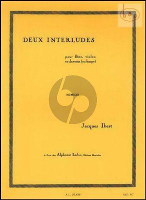 2 Interludes pour Flute-Violon-Clavecin ou Harpe
