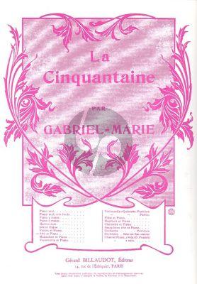 Gabriel-Marie La Cinquantaine Viola-Piano (Billaudot)