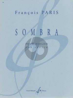 Paris Sombra Violin solo (1999) (very adv.)
