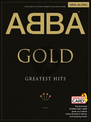 Abba Abba Gold Greatest Hits (Sing-Along Edition) Piano-Vocal-Guitar Book with Audio Online