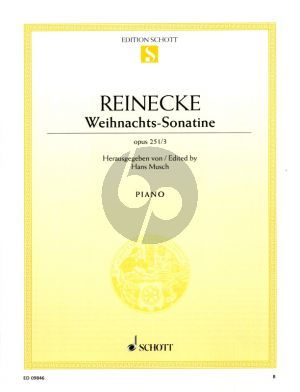 Reinecke Weihnachts-Sonatine Op.251 No.3 Klavier (Hans Musch) (grade 3)