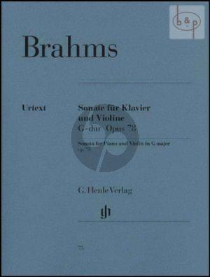 Brahms Sonata G-major Op.78 Violin and Piano (edited by Hans Otto Hiekel)