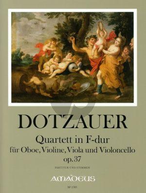 Dotzauer Quartet F-major Op.37 Oboe-Vi.-Va.-Vc. (Score/Parts) (edited by Bernhard Pauler)