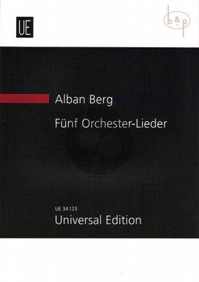 5 Orchester Lieder Op.4 (nach Peter Altenberg's Ansichtskartentexten)