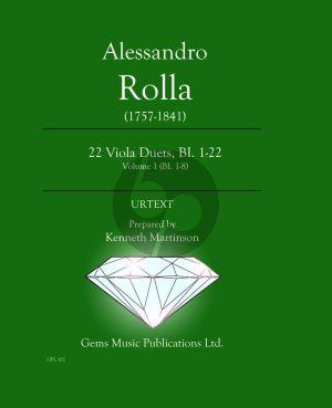 Rolla 22 Viola Duets BI.1 - 22 Vol.1 (BI.1 - 8) (Score) (edited by Kenneth Martinson)