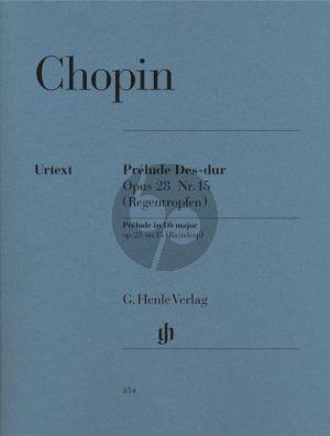 Chopin Prelude Op.28 No.15 D-flat major (Raindrop) (edited by Norbert Mullemann and Hermann Keller) (Henle-Urtext)