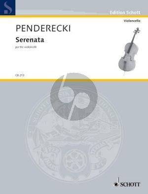Penderecki Serenata 3 Violoncellos (Score/Parts)