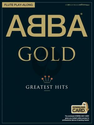 Abba  Abba Gold (Greatest Hits) for Flute Book with Download Card