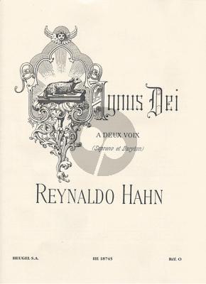 Hahn Agnus Dei (1897) (2 Voices-Piano[Organ]) (Sopr.-Barytone) (lat.)
