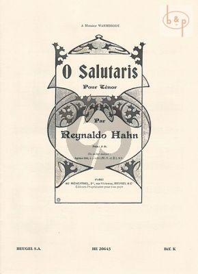 O Salutaris Tenor-Piano [Organ]
