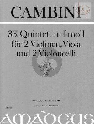 Quintet No.33 f-minor (Score/Parts)