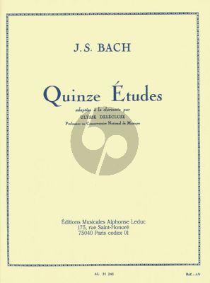 Bach 15 Etudes pour Clarinette (Delecluse)