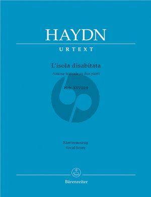 Haydn L'Isola Disabitata Hob.XXVIII:9 Vocal Score (it./germ.) (edited by Martin Focke) (Barenreiter-Urtext)