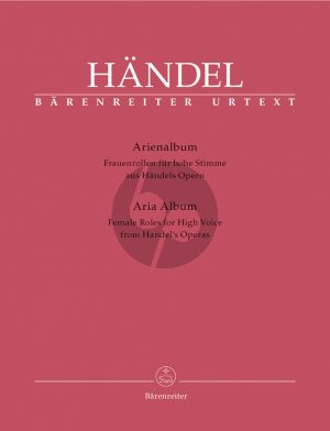 Handel Aria Album from Handel's Operas Female Roles for High Voice (ital.) (edited by Donald Burrows)