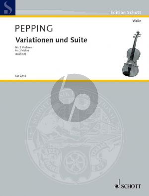Pepping Variations and Suite 2 Violins (Doflein) (Grade 3 - 4) (Playing Score)