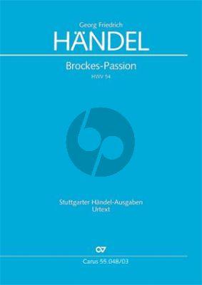 Brockes-Passion HWV 48 (nach Abschrift von J.S.Bach) (STB[soli]-SATB-Orch.)