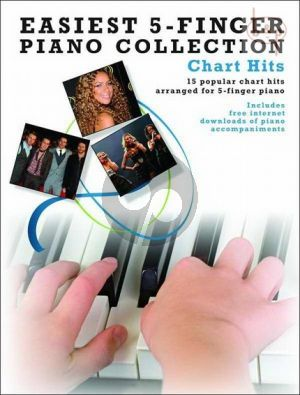 Easiest 5 Finger Piano Collection Chart Hits